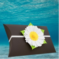 Black Voyager Urn with Memorial Daisy
