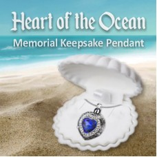 Heart of the Ocean Memorial Keepsake Pendant
