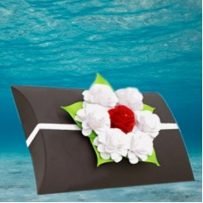 Black Voyager Urn with Memorial Rose Bouquet