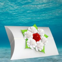 White Voyager Urn with Memorial Rose Bouquet