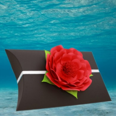 Black Voyager Urn with Red Memorial Petal