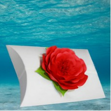 White Voyager Urn with Red Memorial Petal
