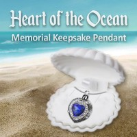 Heart of the Ocean Memorial Keepsake Pendant